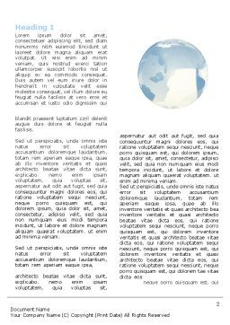 Crystal Globe On The Light Blue Word Template, First Inner Page, 05263, Global — PoweredTemplate.com