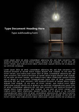 Dark Room With Chair And Lump Word Template, Cover Page, 05264, Consulting — PoweredTemplate.com