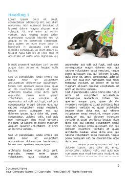 Happy Birthday Puppy Word Template, First Inner Page, 05265, Holiday/Special Occasion — PoweredTemplate.com