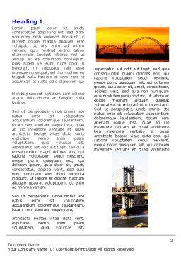Bridges Word Template, First Inner Page, 05270, Construction — PoweredTemplate.com