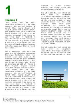Bench Word Template, First Inner Page, 05275, Nature & Environment — PoweredTemplate.com