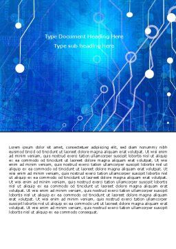 Radio Circuit Word Template, Cover Page, 05279, Technology, Science & Computers — PoweredTemplate.com