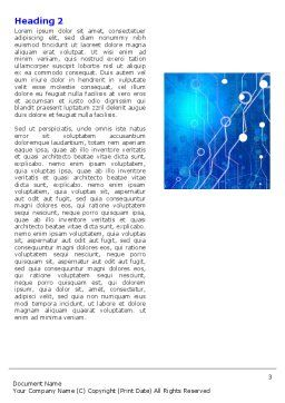 Radio Circuit Word Template, Second Inner Page, 05279, Technology, Science & Computers — PoweredTemplate.com