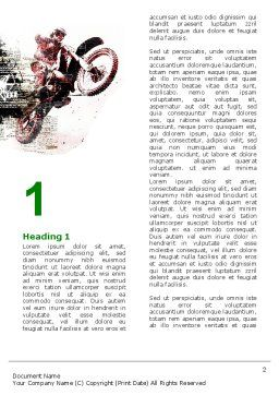 Motocross Word Template, First Inner Page, 05281, Sports — PoweredTemplate.com