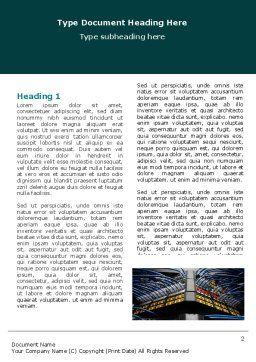 Communication Center Word Template, First Inner Page, 05283, Telecommunication — PoweredTemplate.com