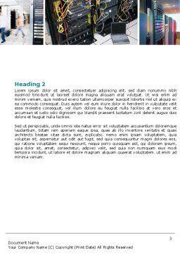 Communication Center Word Template, Second Inner Page, 05283, Telecommunication — PoweredTemplate.com