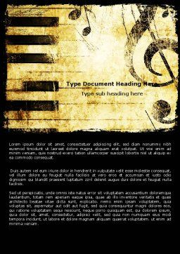 Piano Keyboard With Treble Clef Word Template, Cover Page, 05289, Careers/Industry — PoweredTemplate.com