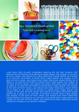 Plasticware Word Template Cover Page