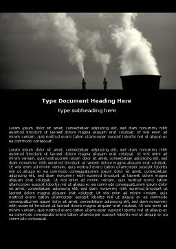 Power Plant Word Template, Cover Page, 05295, Utilities/Industrial — PoweredTemplate.com