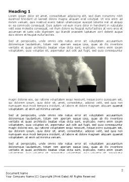 Power Plant Word Template, First Inner Page, 05295, Utilities/Industrial — PoweredTemplate.com