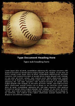 American Baseball Word Template, Cover Page, 05296, Sports — PoweredTemplate.com