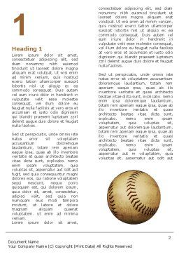 American Baseball Word Template, First Inner Page, 05296, Sports — PoweredTemplate.com