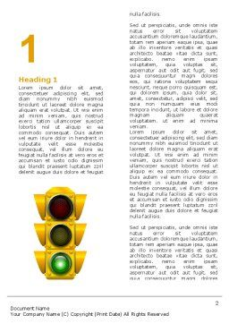 Traffic Light Word Template, First Inner Page, 05301, Education & Training — PoweredTemplate.com