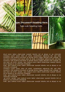 Bamboo Trees Word Template, Cover Page, 05305, Nature & Environment — PoweredTemplate.com
