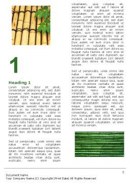 Bamboo Trees Word Template, First Inner Page, 05305, Nature & Environment — PoweredTemplate.com