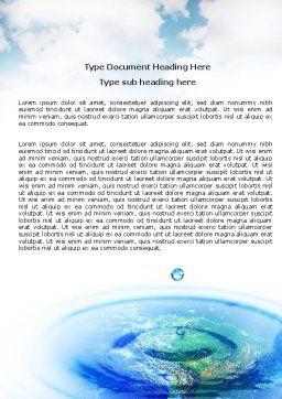 Precipitations Word Template, Cover Page, 05307, Nature & Environment — PoweredTemplate.com
