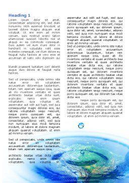 Precipitations Word Template, First Inner Page, 05307, Nature & Environment — PoweredTemplate.com