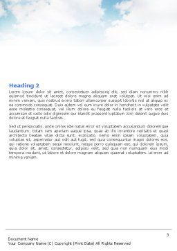 Precipitations Word Template, Second Inner Page, 05307, Nature & Environment — PoweredTemplate.com