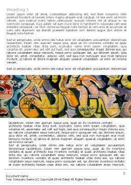 Graffiti On The Wall Word Template First Inner Page