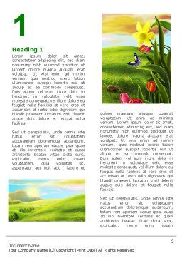 Fine Sunrise Word Template, First Inner Page, 05312, Nature & Environment — PoweredTemplate.com