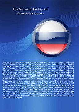 Russian Flag Word Template, Cover Page, 05313, Flags/International — PoweredTemplate.com