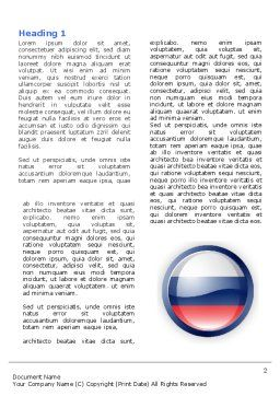 Russian Flag Word Template, First Inner Page, 05313, Flags/International — PoweredTemplate.com