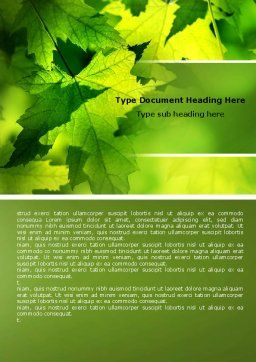 Maple Word Template, Cover Page, 05314, Nature & Environment — PoweredTemplate.com