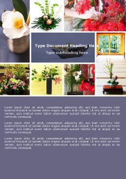 Ikebana Word Template, Cover Page, 05315, Careers/Industry — PoweredTemplate.com