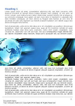 Medical World Word Template, First Inner Page, 05318, Global — PoweredTemplate.com