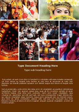 Festivals Word Template, Cover Page, 05319, Holiday/Special Occasion — PoweredTemplate.com