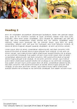 Festivals Word Template, Second Inner Page, 05319, Holiday/Special Occasion — PoweredTemplate.com
