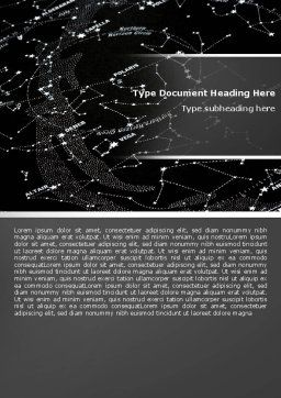 Star Map Word Template, Cover Page, 05321, Education & Training — PoweredTemplate.com