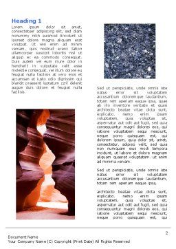 Minerals Word Template, First Inner Page, 05330, Nature & Environment — PoweredTemplate.com