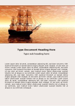 Sailing Ship Word Template Cover Page