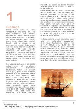 Sailing Ship Word Template First Inner Page