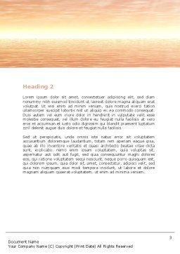 Sailing Ship Word Template Second Inner Page