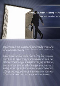 Open Doors To The Light Word Template, Cover Page, 05334, Business — PoweredTemplate.com