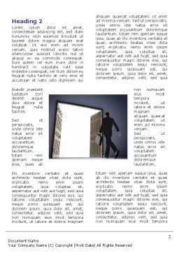 Open Doors To The Light Word Template, First Inner Page, 05334, Business — PoweredTemplate.com