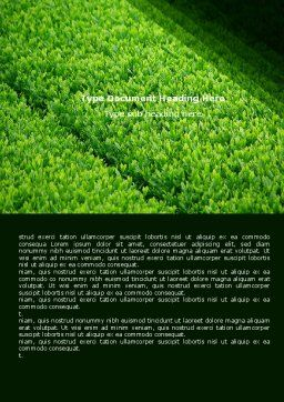 Green Grass Word Template Cover Page