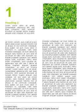 Green Grass Word Template First Inner Page