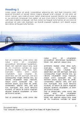Pool On The Seashore Word Template First Inner Page