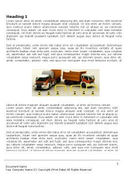 Transport Trucks Word Template, First Inner Page, 05338, Cars/Transportation — PoweredTemplate.com