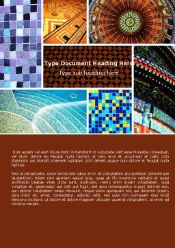 Ceramic Mosaic Word Template Cover Page