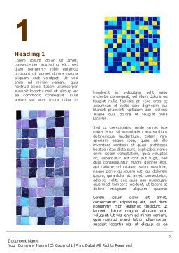 Ceramic Mosaic Word Template First Inner Page