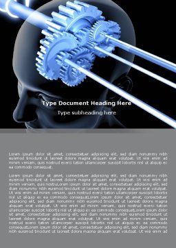 Mechanisms Of Brain Word Template, Cover Page, 05340, Consulting — PoweredTemplate.com