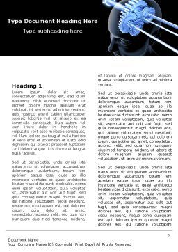 Mechanisms Of Brain Word Template, First Inner Page, 05340, Consulting — PoweredTemplate.com