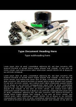 Motorcycle Tools Word Template, Cover Page, 05342, Utilities/Industrial — PoweredTemplate.com