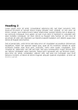 Motorcycle Tools Word Template, Second Inner Page, 05342, Utilities/Industrial — PoweredTemplate.com