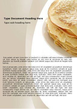 Pancakes Word Template Cover Page