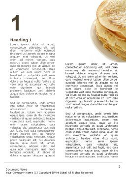 Pancakes Word Template First Inner Page